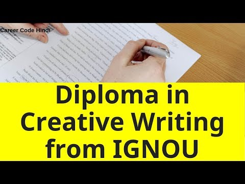 Diploma in Creative Writing in English Course from IGNOU details