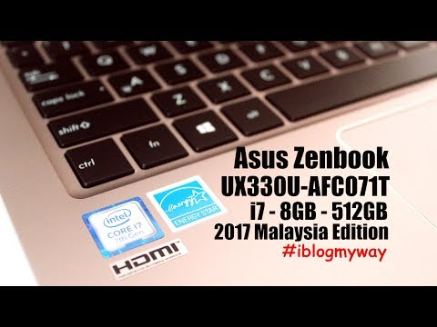 Unboxing Asus Zenbook UX330UA 2017 Malaysia Edition