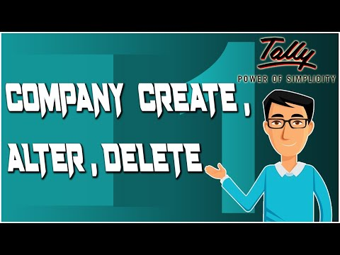 Create Alter and Delete a Company in Tally ERP-9