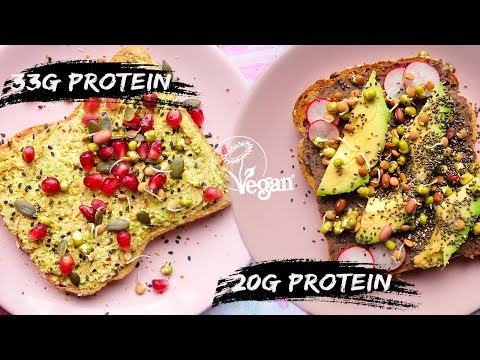 4 EASY VEGAN RECIPES / high protein toast ideas