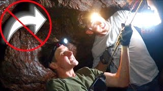 DANGEROUS UNDERGROUND CAVE!  *do not try*