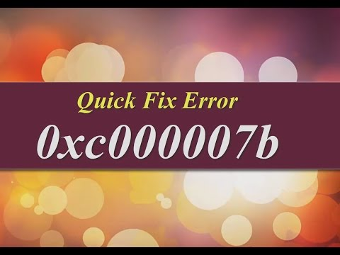 How to Fix 0xc000007b Error easily [Softwares & PC GAMES] WINDOW 7, 8 and above