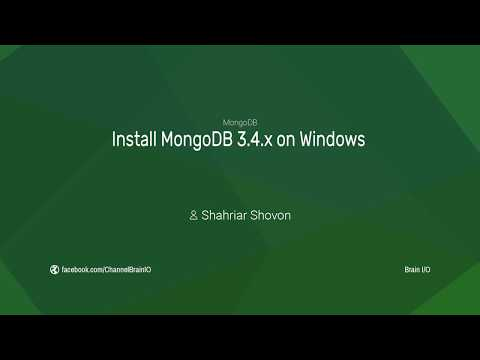 Install MongoDB 3.4.x on Windows