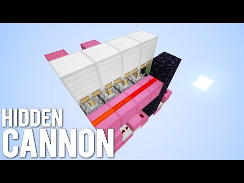 Minecraft: The Hidden TNT Cannon! [Secret Weapon!]