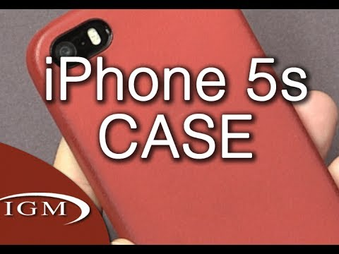 Apple Leather iPhone 5/5S Case (Product RED)