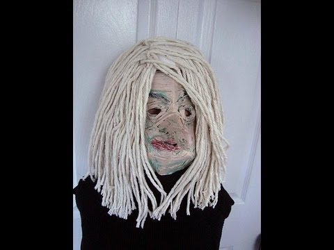 150 YR OLD DECREPIT OLD WITCH, MASK, costumes, halloween, disguise, papier mache, diy