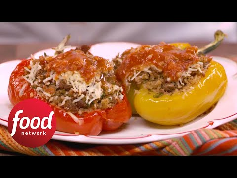 Sweet and Sour Stuffed Peppers | Food Network