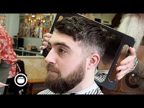 Messy Crop Haircut with Low Cheek Line Beard Trim