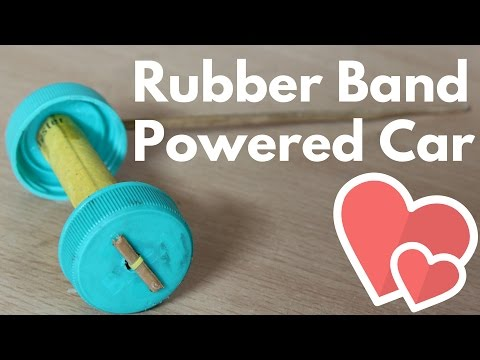 Rubber Band Powered Car - Easy Way