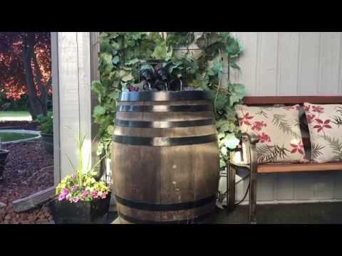 Custom Wine Barrel Fountains!