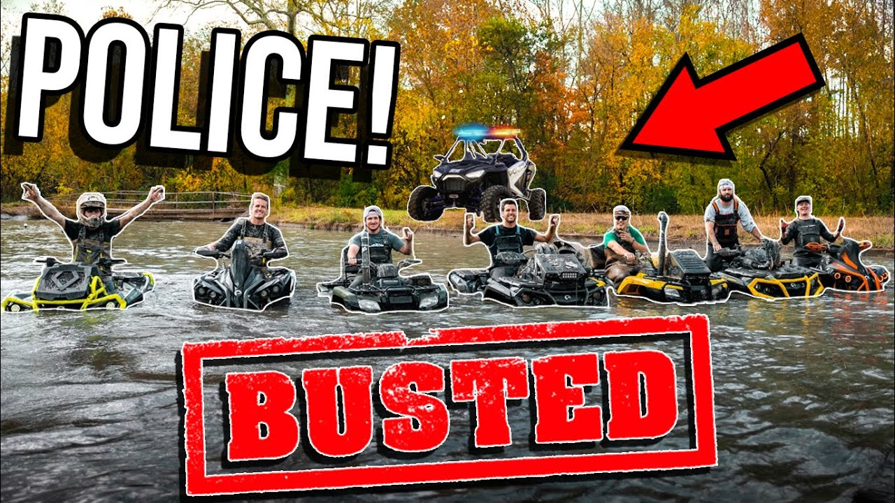 Abandoned GOLF COURSE on FOUR WHEELERS! *COPS BUST US*