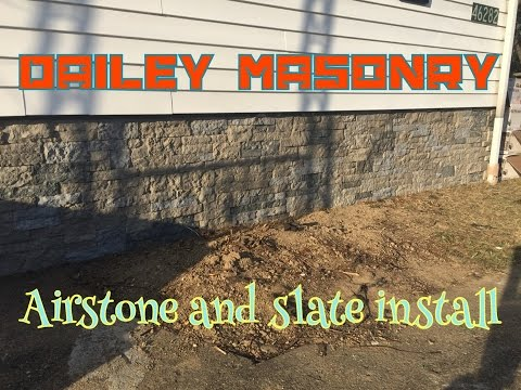 Airstone and Slate install