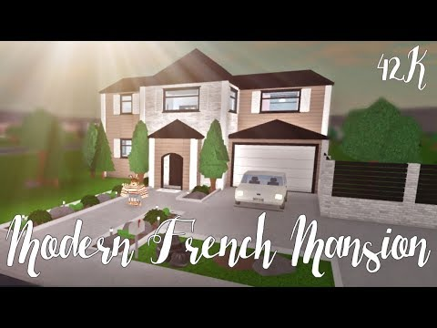 bloxburg modern french mansion 42k eachnow com