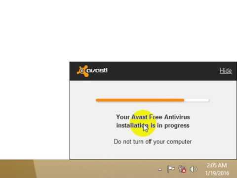 How to install avast free antivirus setup in pc