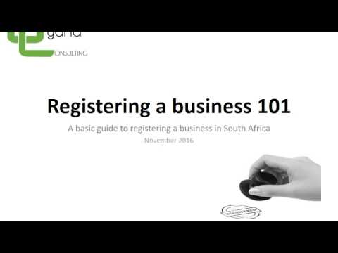 Registering a business 101 - An Explanation for South African Businesses
