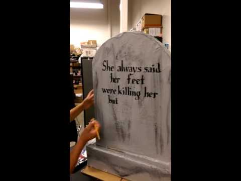 MY DIY TOMBSTONE