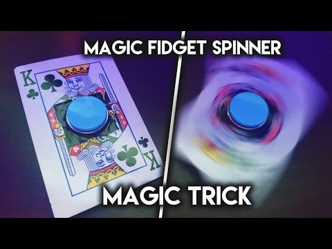 How To Make **MAGIC TRICK CARD** FIDGET SPINNER (SUPER RARE SPINNERS)