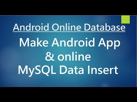 Android online Database  - Data Insertion.