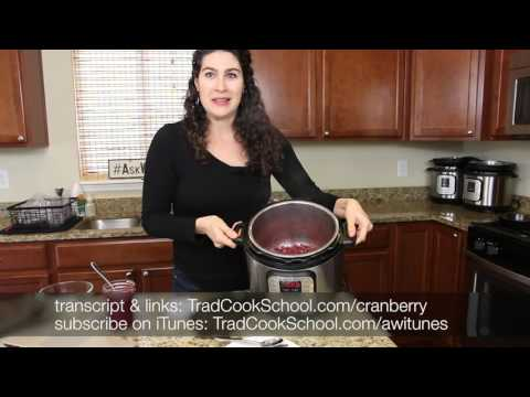 How Do You Make Naturally Sweetened Cranberry Sauce In The Instant Pot? | #AskWardee 050