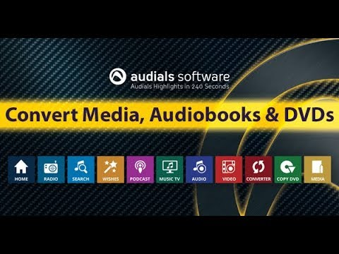 Audials 2018 in 240 Seconds: Convert Media, Audiobooks and DVDs
