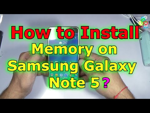 How to Install Memory in Samsung Galaxy Note 5