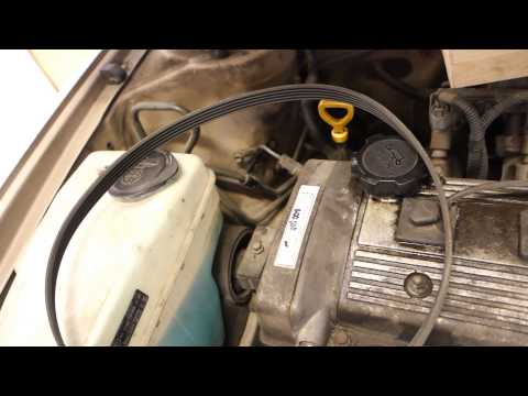 How to replace drive belt Toyota Avensis. Years 1998 to 2003. 7A-FE engine