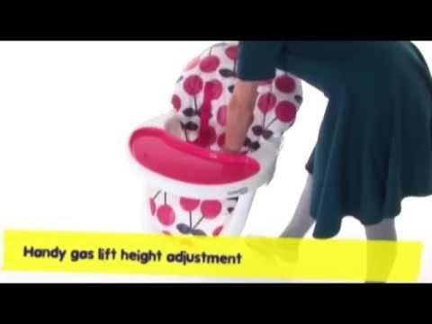 Cosatto 3Sixti2 Highchair Cherry - Demonstration Video | Nursery Furniture Store