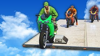 INTENSE MILE HIGH PARKOUR! (GTA 5 Funny Moments)