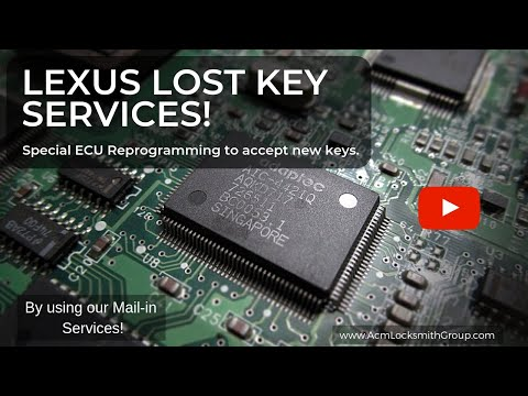 Mail-In Services! 1999 Lexus RX300: Lexus Lost Key Replacement Made & Special ECU Programming!