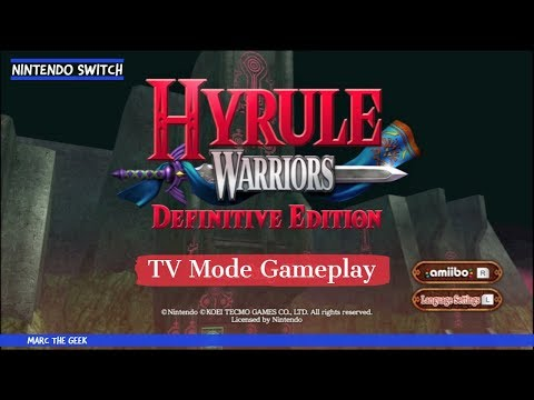 Nintendo Switch Hyrule Warriors TV Mode Gameplay