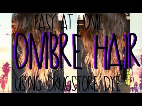 Easy DIY Ombre Hair Using Drugstore Hairdye