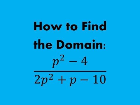 How to Find the Domain of a (Rational Expression) Fraction with Polynomials (a MATH 1010 Problem)
