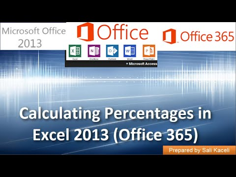 Calculating Percentages in Excel 2013 (Office 365): Part 9 of 18