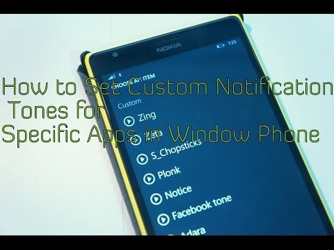 How to Set Custom Notification Tones for Specific Apps in Window Phone (MyNokiaBlog)