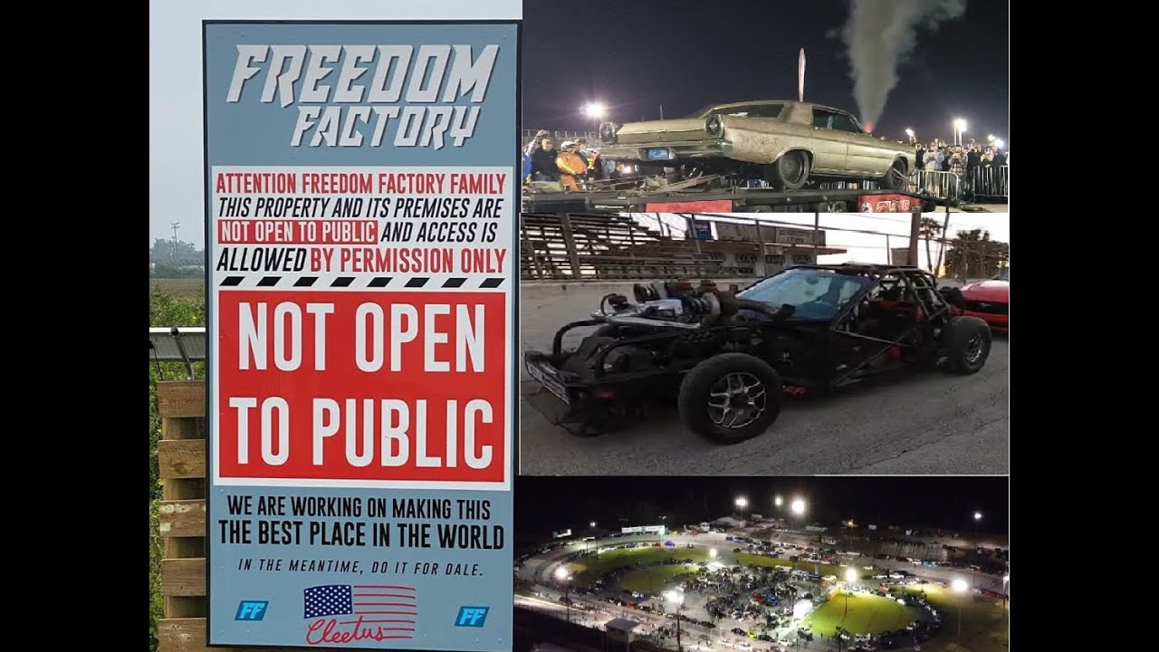 Cleetus McFarland opens The Freedom Factory!!! Amazing Street Car Takeover meet.