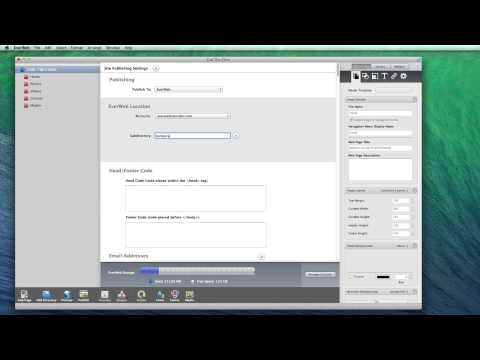 How To Publish A Website In EverWeb - Publish to EverWeb, FTP, Local Folder