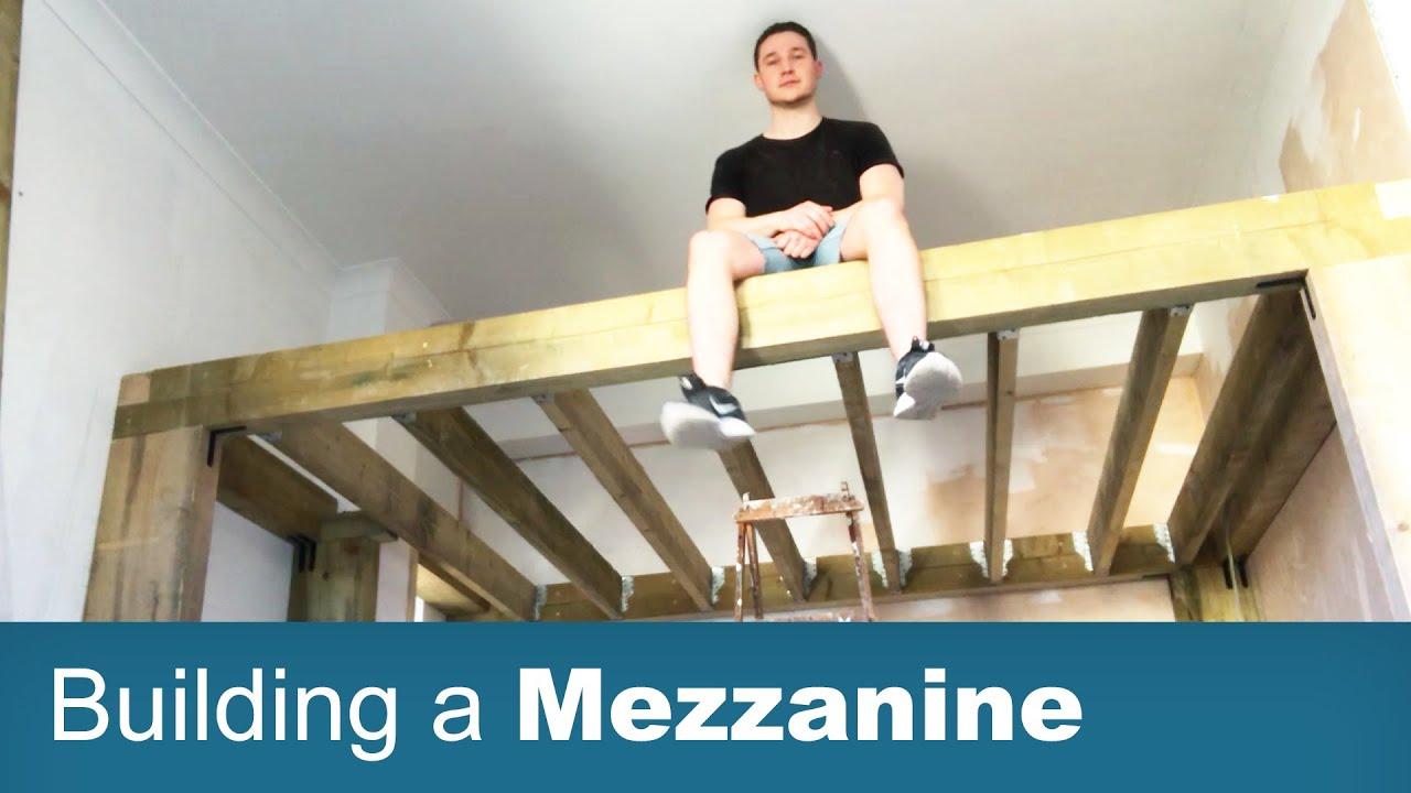 Building a Freestanding Mezzanine
