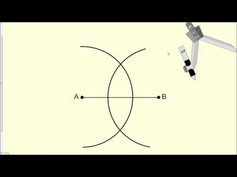 Constructing a Perpendicular Bisector - Geometry