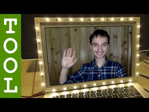 How to Make an LED Video Chat Light for your Laptop