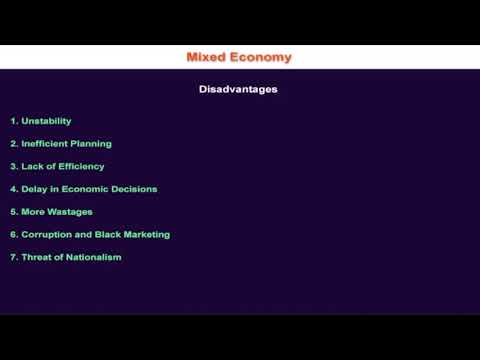1.10.11 Disadvantages of Mixed Economic System