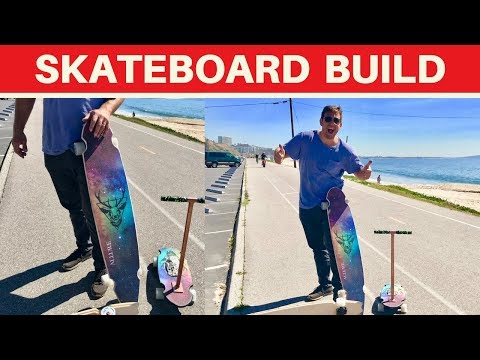 5 Skateboards in 10 Minutes - Building My Own Long Board - Woodworking  welding Project