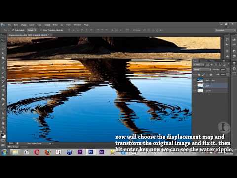 Photoshop tutorial::Simply water ripple effect create in photoshop