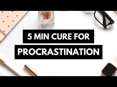How to Stop Procrastinating (5 Minute Method - The Procrastination Cure)