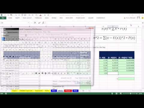 Excel 2013 Statistical Analysis #31: Create Discrete Probability Distribution, Calculate Mean and SD