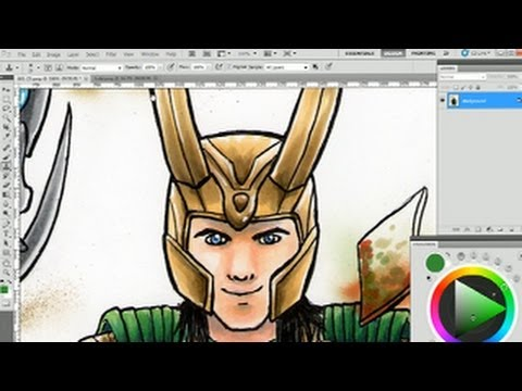 How to Fix Scanned Drawings in Photoshop
