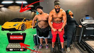 Last To Stop Running Wins $1,000,000 & A Lamborghini !!! 😳 (Biggest Fitness Challenge)