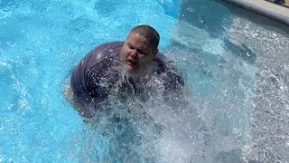 THEY THREW ME IN THE POOL!