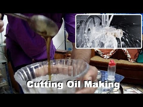 Cutting oil making formula.How to make cutting oil.