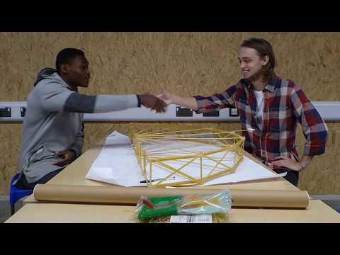 We built bridges from spaghetti  (University of Brighton)