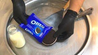 GIANT Oreo Sandwich - Ice Cream Rolls | how to make an Oreo Ice Cream Sandwich to Ice Cream Rolls